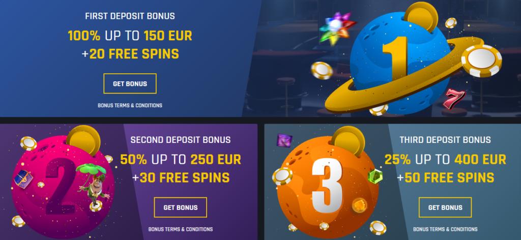 Casinouniverse Welcome Bonus