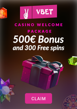 VBET Casino Welcome Bonus