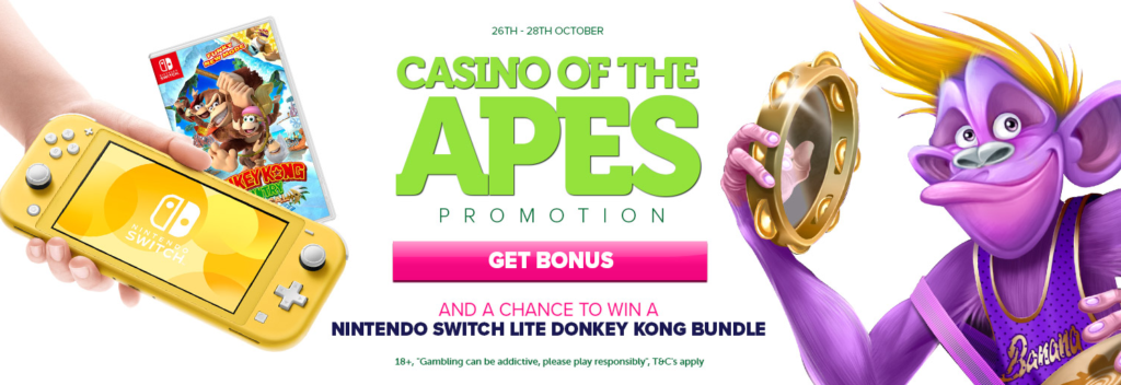 Casino of the Apes Promotion at Casinoluck