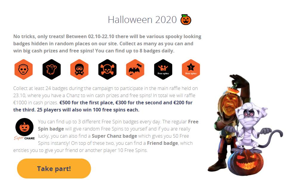 Halloween Badge Hunt at Chanz