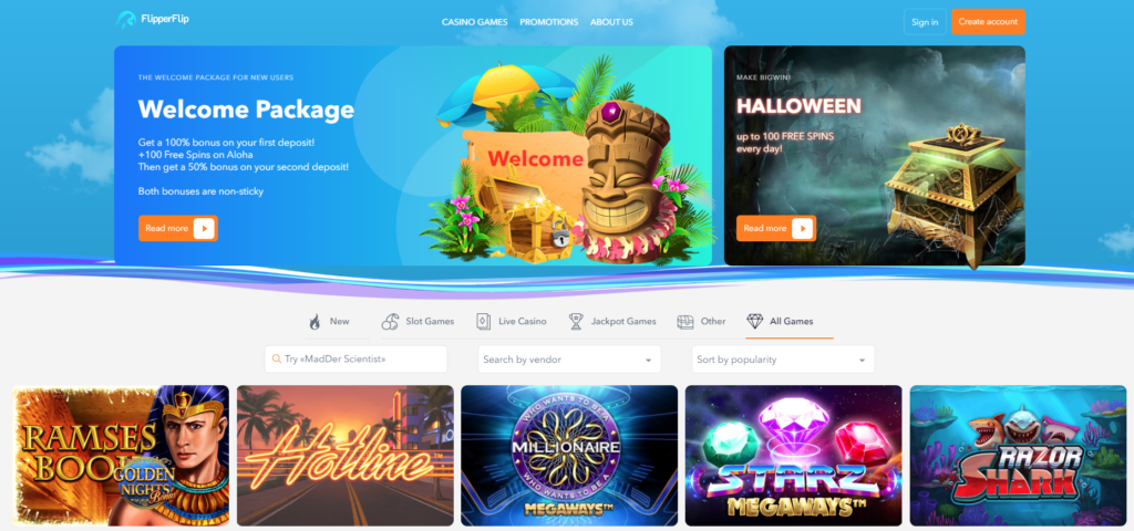 Flipperflip Casino overview