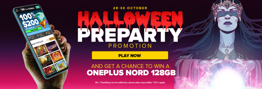 Halloween PreParty at Nextcasino