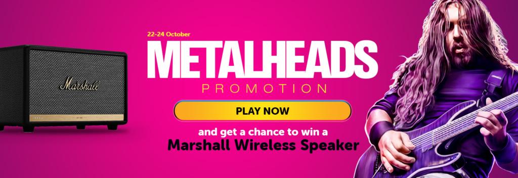 Metalheads Promotion at Wildslots