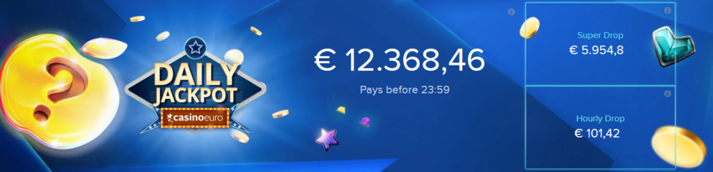 Guaranteed daily Jackpot at Casinoeuro