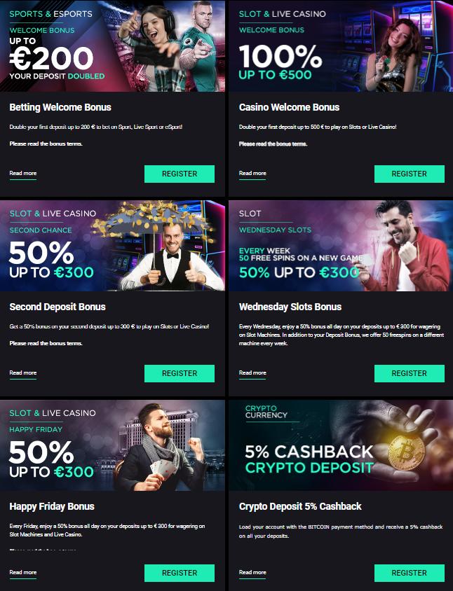 CBet Bonus offers