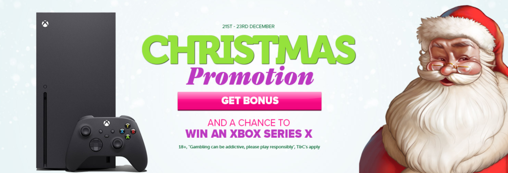 Christmas Promotion at Casinoluck - win a XBOX Series X