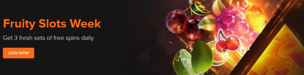Fruity Slots Week at Casinowinner