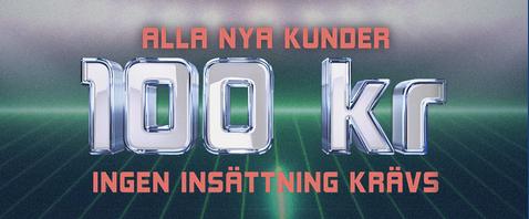 100 SEK no deposit at HAJPER