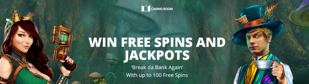 Jackpot Freespins at Casinoroom