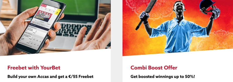 Freebet and Combi Booster at Funbet