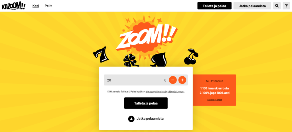 Kazoom New Welcome Offer