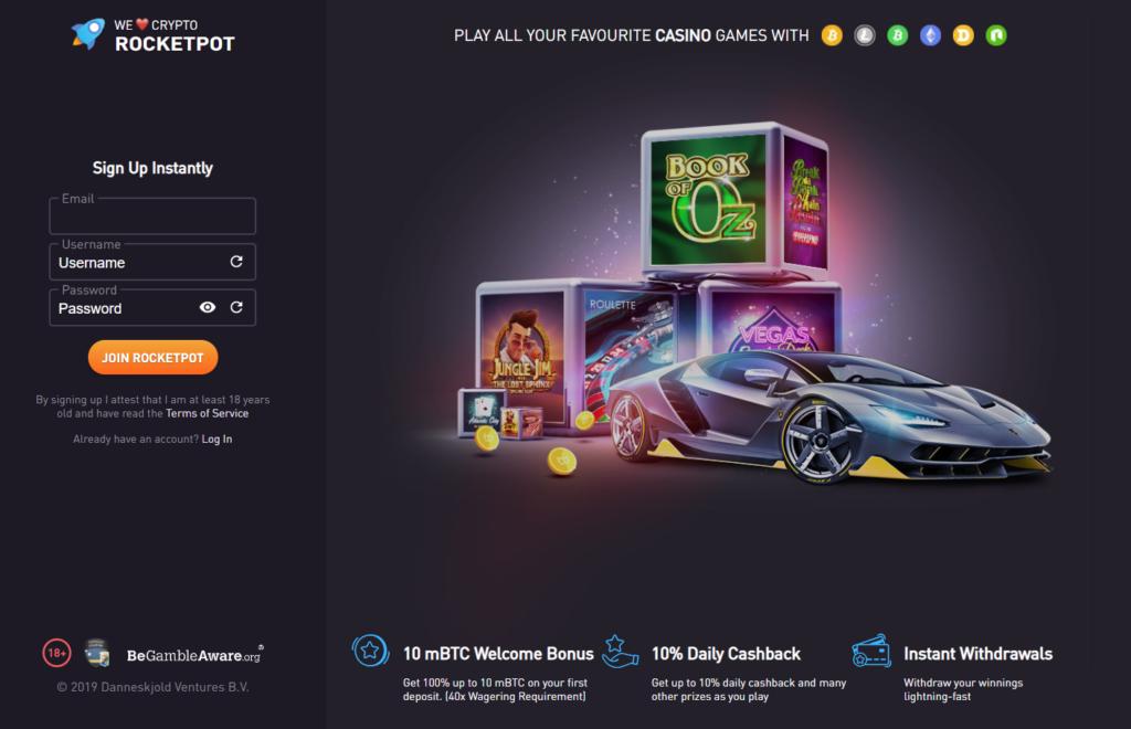 Rocketpot exclusive welcome bonus