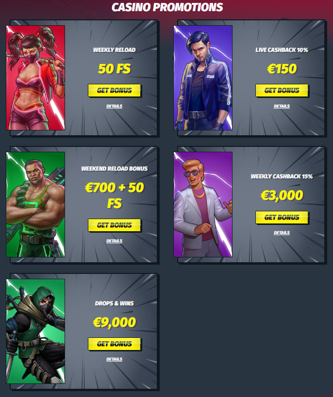 Casino promotion at Luckyelektra