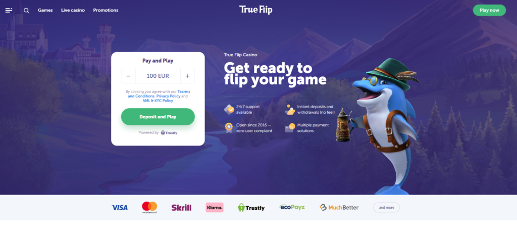 Trueflip Pay n Play Casino