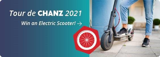 Tour de Chanz 2021 - win an electric scooter