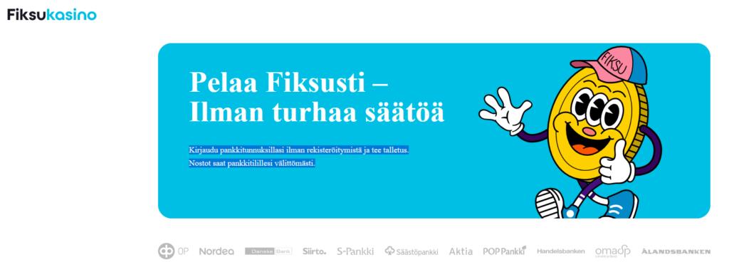 Fiksukasino Pay n Play Finland