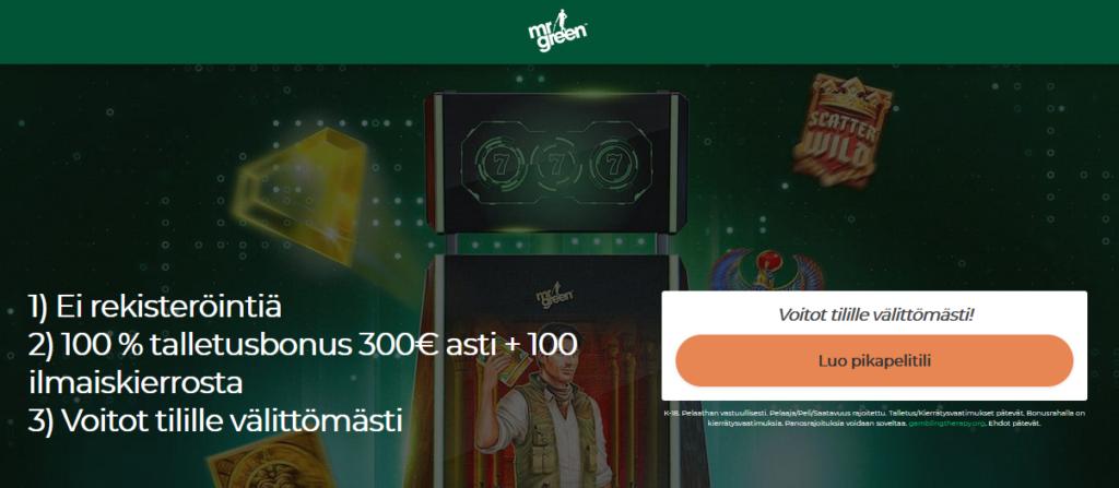 Mrgreen Finland Welcome Bonus