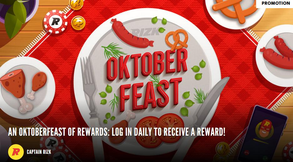 Rizk Oktoberfeast with daily rewards
