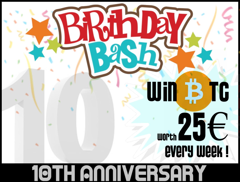 10 Years Birthday Bash! Win 25€